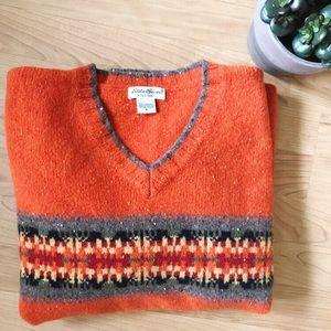 <Eddie Bauer> Lambswool Orange Cozy Sweater